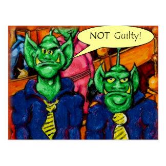 Martian Defense Lawyer Postcard