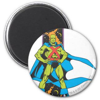 Martian Manhunter & Space Backdrop Fridge Magnets