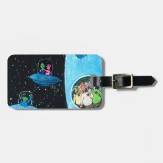 Martians and Cows Bag Tag