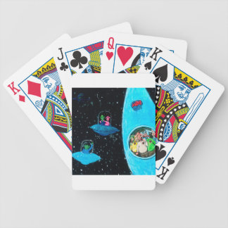 Martians and Cows Bicycle Playing Cards