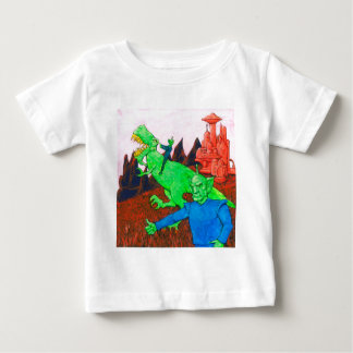 Martians and T-Rex Baby T-Shirt
