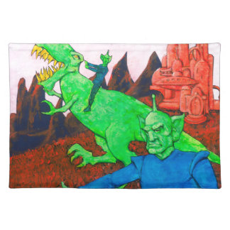 Martians and T-Rex Placemat