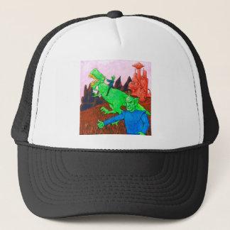 Martians and T-Rex Trucker Hat