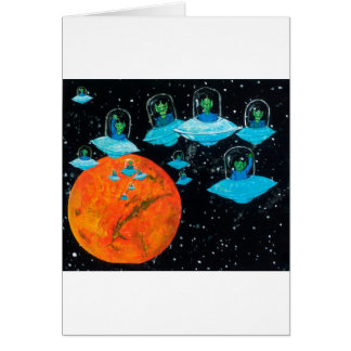 Martians are Angry Card