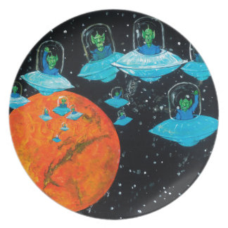 Martians are Angry Party Plate