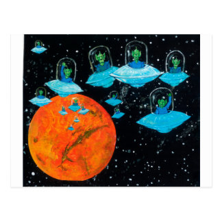 Martians are Angry Postcard