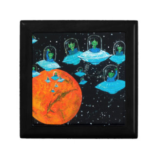 Martians are Angry Small Square Gift Box