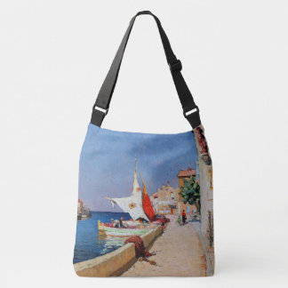 Martigues French Boats Ocean Port Tote Bag
