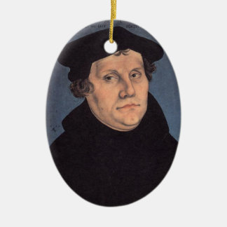 Martin and Katherina (von Bora) Luther Ceramic Oval Decoration