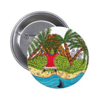Martin and the desert island paradise 6 cm round badge