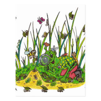 Martin and the Insects Postcard