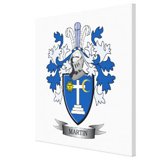 Martin Coat of Arms Canvas Print