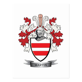 Martin Coat of Arms Postcard
