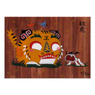 Martin Hsu - Autumn Tiger Poster
