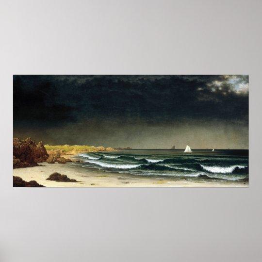 Martin Johnson Heade Approaching Storm Beach Poster