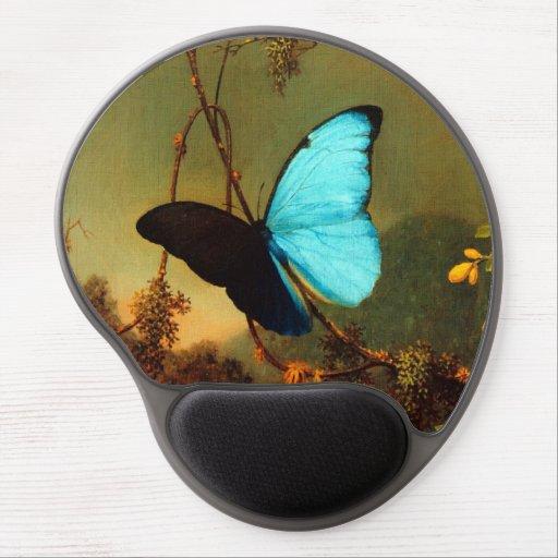 Martin Johnson Heade Blue Morpho Butterfly Gel Mouse Pad