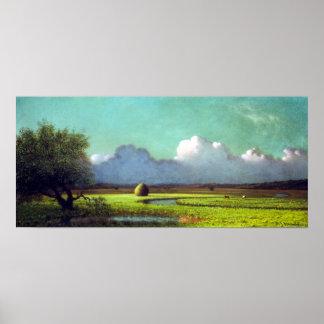 Martin Johnson Heade Sunlight Shadow Newbury Marsh Poster