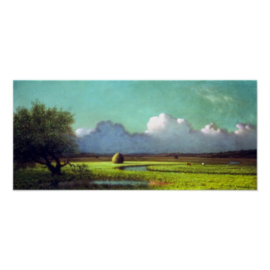 Martin Johnson Heade Sunlight Shadow Newbury Marsh Poster