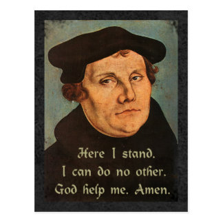 Martin Luther  Here I Stand Quotation Postcard