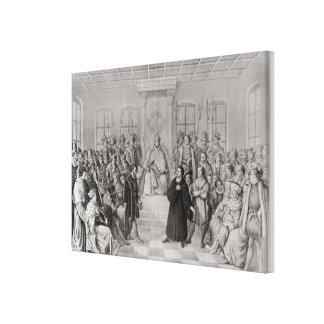 Martin Luther in front of Charles V Canvas Print