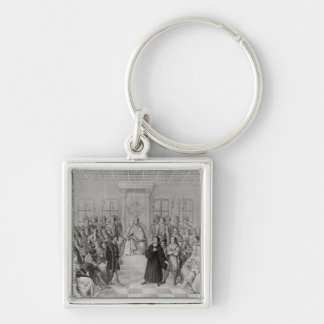 Martin Luther in front of Charles V Key Chain