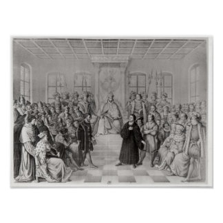 Martin Luther in front of Charles V Print