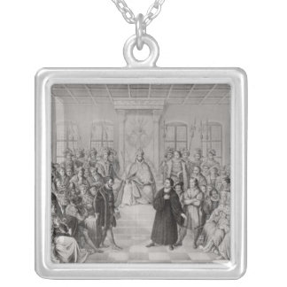 Martin Luther in front of Charles V Square Pendant Necklace