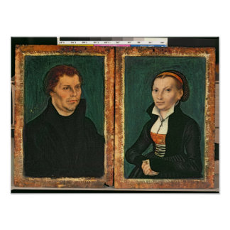 Martin Luther, Katharina von Bora, c.1526 Poster