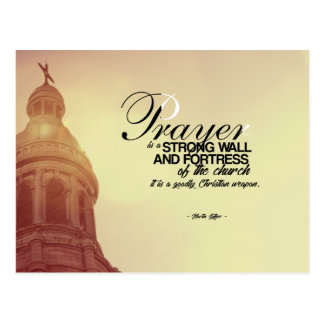 Martin Luther - Prayer Postcard