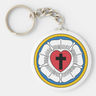 Martin Luther's Seal Basic Round Button Key Ring