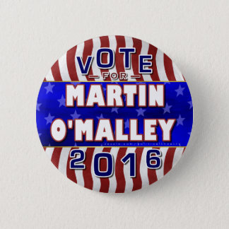 Martin O'Malley President 2016 Election Democrat 6 Cm Round Badge