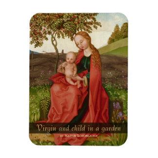 Martin Schongauer CC0942 Virgin and child garden Magnet