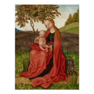 Martin Schongauer CC0945 Virgin and child garden Poster