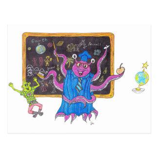 Martin tells his Teacher Postcard