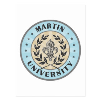 Martin University Light Blue Post Card