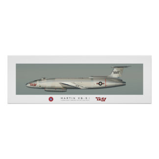 Martin XB-51 Profile Poster