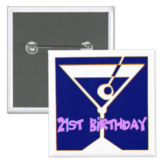 Martini 21st Birthday Gifts 15 Cm Square Badge
