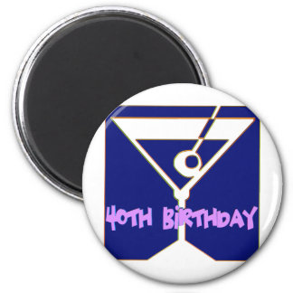 Martini 40th Birthday Gifts Fridge Magnet