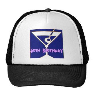 Martini 50th Birthday Gifts Cap