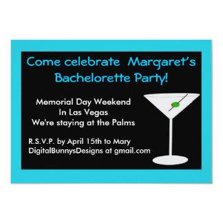 Martini Bachelorette Party Invitation