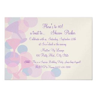 Martini Bubbles Party Invitation