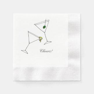 Martini Cocktail Napkin Disposable Serviettes