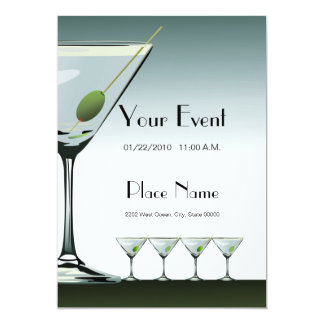 Martini Cocktails Invitation Template