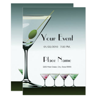 Martini Cocktails Party Invitation
