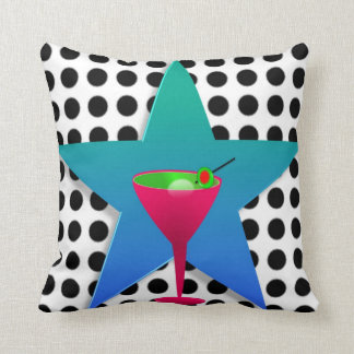 Martini Dot Pillow - Star