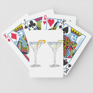Martini Drink Sketch Bicycle Playing Cards