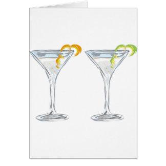 Martini Drink Sketch Card