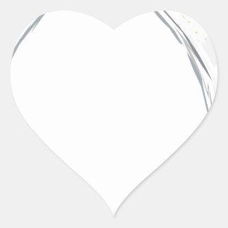 Martini Drink Sketch Heart Sticker