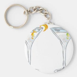 Martini Drink Sketch Key Ring