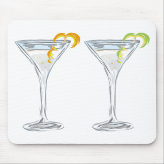 Martini Drink Sketch Mouse Pad